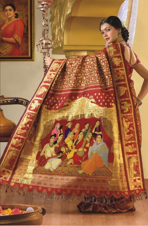 SCENTED-SILK-SAREES-kanchipuram saree